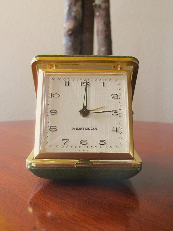 Vintage WESTCLOX Travel clock, Good Working Condition