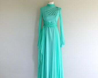 Vintage Maxi Wrap  Dress
