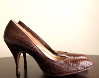 1960s Vintage Lizard  Pumps/Gianelli