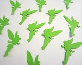 100 Tinkerbell Lime Green Confetti Cutouts Paper Embellishment Table Scatter Cupcake Topper