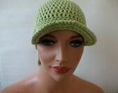 Crochet Baseball  Cap:Spring And Summer Crochet  Lemon Base Cap