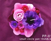 Pink and Purple Flower Scented Candle