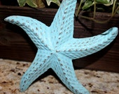 Shabby Chic Starfish Cast Iron Paper Weight