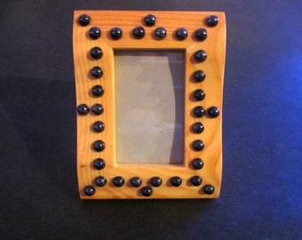 BLACK PEARL  wooden picture frame