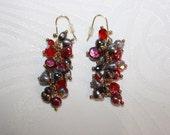"""2"""" Drop Freshwater Pearl & Glass Earrings /0417"""