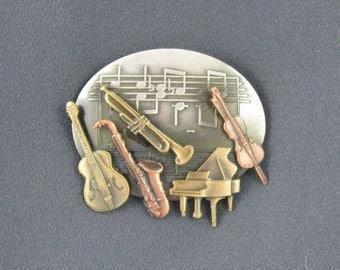 Musical Instruments Brooch- Music Teacher Gift- Musicians Gift- Music Lovers Gift