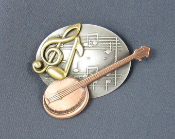 Banjo Brooch