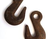 Vintage Industrial Cast Iron Hooks
