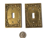 Vintage Light Switch Plate Cover, Mid Century Hardware