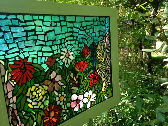 Stained Glass Flower Garden