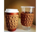 Cafe au lait COFFEE COZIES, his and hers, matching sets, anniversary gift, engagement gift, also available as Pint Size Mason Jar cozies