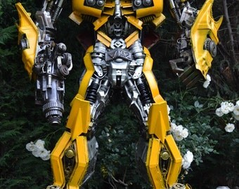 Hand Made BUMBLEBEE  TRANSFORMERS 7.5 FEET 2.2m Recycled Scrap Metal