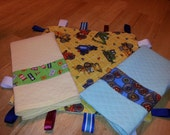 Baby Boys Gift Set. Lovey, Cuddle/Burp Cloths
