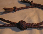 Free Ship USA Canada Leather bolo Lanyard  split hide  Double Turk's Head Knot Slide