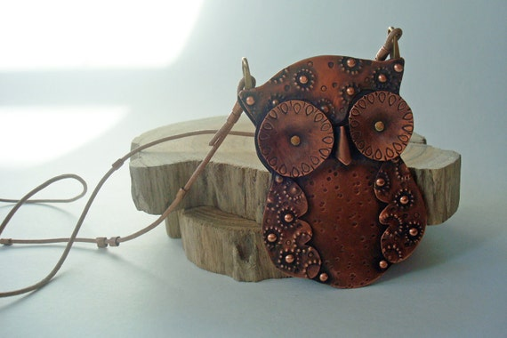 The Great Horned Whoo - Riveted Copper Owl