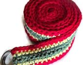 Rastafari Love Crochet Belt
