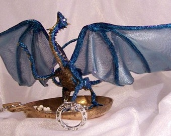 Blue Dragon Art Doll: Jewelry Thief Dragon