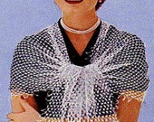 A BEST Vintage 1951 Peachtree Lace Stole Wrap 737 PDF Digital Crochet Pattern