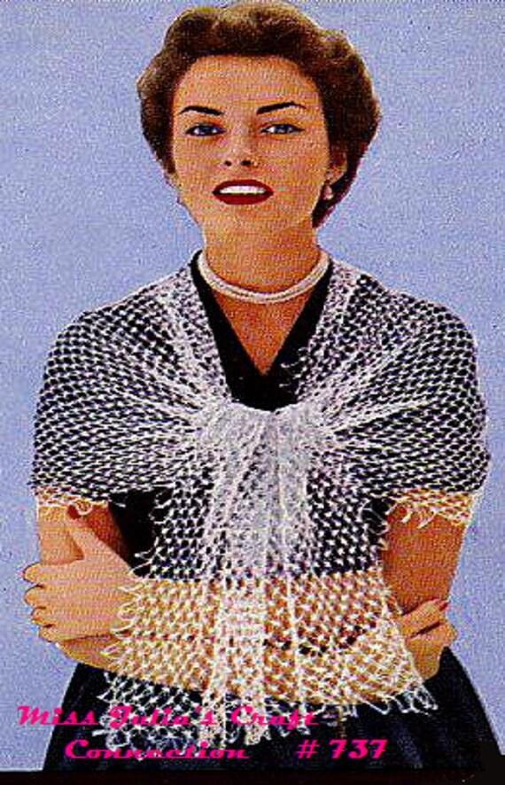 A BEST Vintage 1951 Peachtree Lace Stole Wrap 737 PDF Digital Crochet Pattern