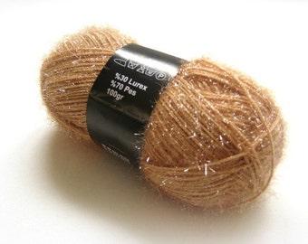 Brown Yarn - Shiny Brown Knitting, Crochet Yarn - Ready to Ship - Gift for Mom