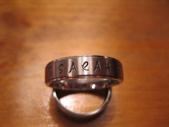 Name Ring, personalized band, this is cool.... On Sale