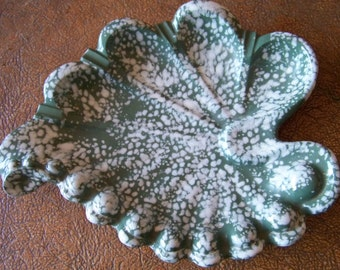 Retro Speckled Spatter Ash Tray, Decorative Tray - tithriftstore.etsy