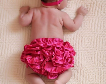 Pink Ruffle Diaper cover