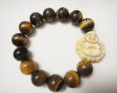 Tiger Eye & Buddha Integrity Bracelet 12mm Beads