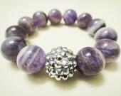 Universal Amethyst & Bling Bracelet 14mm Beads