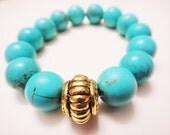 Expansive Awareness Turquoise Energy Bracelet - 12mm beads -