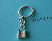 Tiffany & Co 925 Solid Sterling Silver Lock Keychain