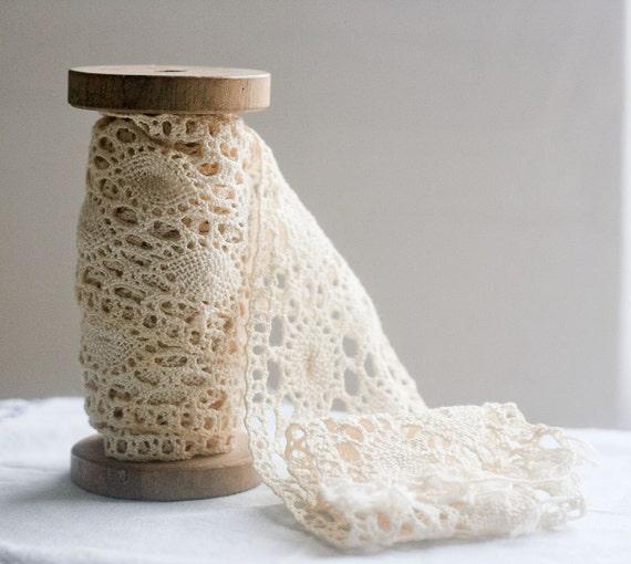 3 inch Wide Vintage French Cotton Trim - 2 yards