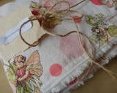 blanket with fairies and large dots