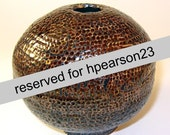 RESERVED FOR hpearson23-- Copper Dimple Vase