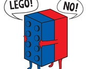 Funny Shirt - Lego Parody - ' Lego NO ' - Any Color & Size - All shirts made to ORDER
