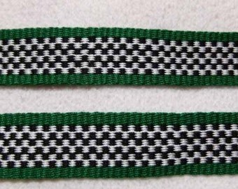 "Marjeria -  Hand Woven Inkle Trim (1"" wide)"