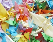 1000pcs 2013 FOR party birthday Wedding colorful Handmade Origami Paper Cranes Wishes adorn colorful room