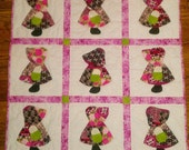 Skulls and Roses Sunbonnet Sue Baby Quilt