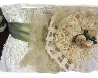 Bridal Sash, Country Wedding Sash, Shabby Chic Sash, Lace Sash, Edwardian Sash, Victorian Sash