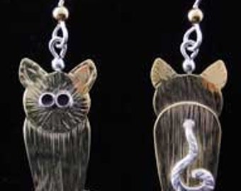 Before and After Cat Earrings