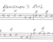 Hangmans Reel Tablature for Irish Tenor Banjo/Arranged by Banjobelle