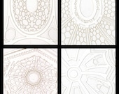 Baroque Church Ceilings Laser Cut Notecards Stationery, Set of 12