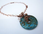 Turquoise Pendant Statement Necklace