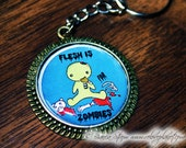 Flesh Is For Zombies Keychain Pendant - 30mm - ReLove Plan.et