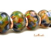 SRA Handcrafted Artisan Lampwork Bead Set - JUNGLE QUEEN