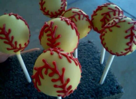 Baseball or Softball Cake Pops