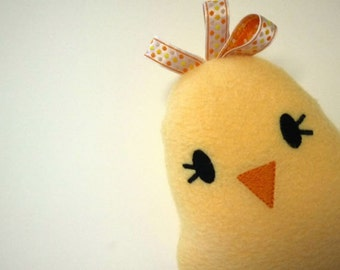 Yellow Chick Plushie - Bird Plush Toy - Baby Toy