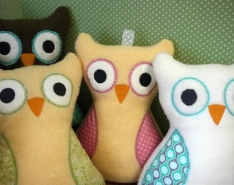 Custom Owl -  Plush Owl Toy - Baby Toy