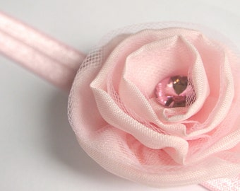 Baby Girl headbands - Pink Flower Headband - Flower Headband