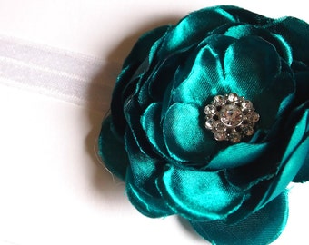 Teal Green Baby Headband - Infant Headband - Baby Girl Headband -  Photography Prop